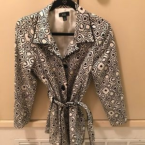 AGB black and white coat, classic and beautiful